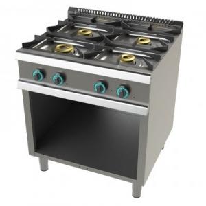 Cocina a gas con mueble de 4 fuegos 8+4,5+6+6 Kw SerIe 700 JUNEX con medidas 800x730x900h mm FO7N400