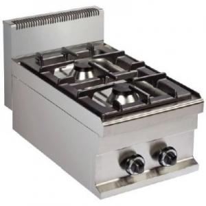 Cocina a Gas sobremesa de 2 fuegos 6+6kw 400x700x290h mm GR711S ARISCO