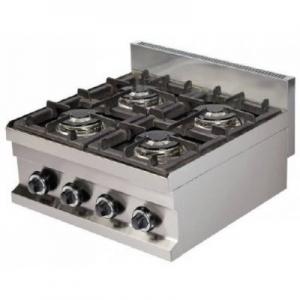 Cocina a gas sobremesa 4 fuegos 4×3,6kw 600x600x265h mm GC606 ARISCO