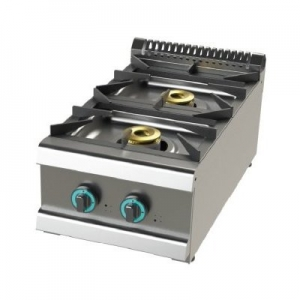 Cocina a gas sobremesa de 2 fuegos 6+4,5 Kw SerIe 700 JUNEX